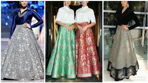 Designer Long Skirt Dresses Latest Plane Shirt With Long Designer Skirt Combo Trending Fashion Style