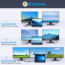 Buy USB C Docking Station Dual Monitor, 13 in 1 Triple Display Laptop  Docking Station with 2 HDMI+DP+Ethernet+5USB+SD/TF+USB C PD+Audio for  MacBook Pro/Air/Dell/HP/Lenovo/Thinkpad and More Type-C Laptops Online in  Indonesia. B08VNH5L6Y