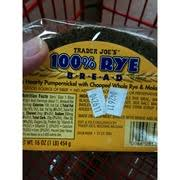 Trader Joes 100 Rye Bread Calories Nutrition Analysis More