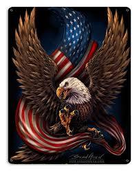 flag patriotic art on metal