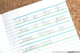 sky ground writing paper the ot toolbox use the sky ground technique of writing to help kids improve legibility through imporved line awareness