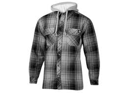 Dickies Men's Quilted Flannel Shirt Jacket with Fleece Hood &  Adamdwight.com