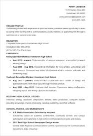 Scholarship Resume Format Gorgeous High School Student Resume Format Download Sample Template