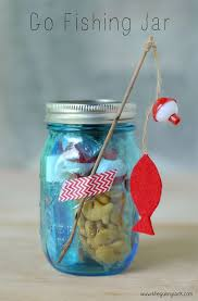 Give a Go Fishing Jar to inspire kids to head outdoors or give them as party
