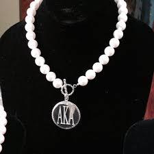 drop shipping alpha kap alpha pearl necklace aka sorority sliver necklace jewelry