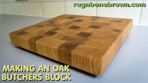end grain butcher block. Delighful End Making An End Grain Chopping Board  Butcheru0027s Block From Salvaged Oak   YouTube Throughout Butcher T