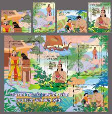 Ngày Quốc tế Thiếu nhi: Phát hành bộ tem Truyền thuyết Mai An Tiêm | Văn  hóa