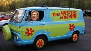 Image result for hillary scooby van pics