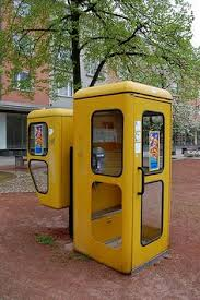 for the class of phone booths were what we used to call when yellow phone booths eisenhatildefrac14ttenstadt fuerstenberg brandenburg 2009 photograph by