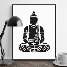 india modern minimalist zen buddha portrait art prints poster abstract wall picture canvas painting no frame tea room home decor in painting calligraphy