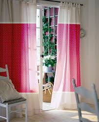 Beautiful Curtain Panels For Your Interior Furniture Decor Idea: White With Pink  Curtain Panels For