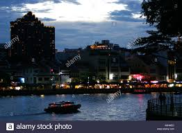 Light Bar For Boat Tower Restaurants And Bars Light Up At Dusk Along Boat Quay On The