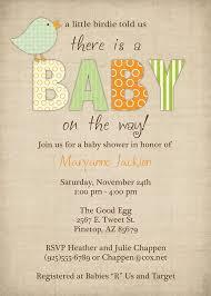Baby Shower Invitation Cards Bird Baby Shower Invitations Little Bird Gender Neutral