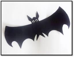 Black Chart Paper Simple Halloween Bat Paper Craft Art Platter