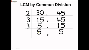 Greatest Common Factor Table Chart Math How To Find Lcm By Common Division Method English