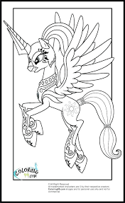 my little pony friendship is magic princess celestia coloring pages cadence s