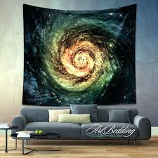 galaxy wall tapestry galaxy tapestry green spiral galaxy wall tapestry galaxy tapestry wall hanging spiral galaxy