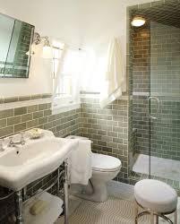 green subway tile backsplash transitional bathroom jamie sage tiles