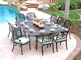 cast aluminum dining set ocean view wrought iron patio furniture table