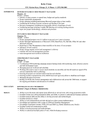 Crm Project Manager Resume CRM Project Manager Resume Samples Velvet Jobs 1