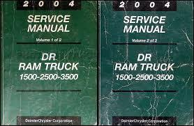 dodge dr ram truck wiring diagram manual original 2004 dodge ram 1500 3500 repair shop manual original 2 volume set 279 00