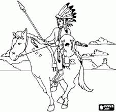 Indian Horse Coloring Sheets Native Americans Or Indians Coloring