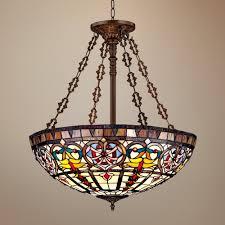 tiffany style lamp chandelier ornamental tiffany style wide art glass pendant light