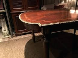 full size of vintage mahogany round dining table antique australia hand tooled inlay brass trim a
