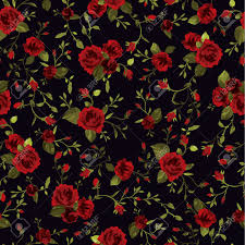 Rose Pattern Delectable Seamless Floral Pattern With Of Red Roses On Black Background