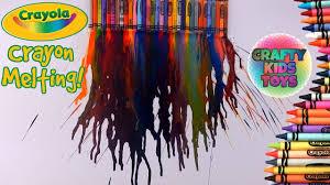 crayola crayon melting with hair dryer