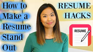 Linda Raynier Resume Sample Resume Hacks How to Make a Resume Stand Out YouTube 4