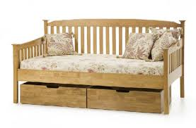 serene eleanor 3ft single oak wooden day bed frame serene