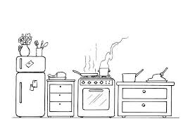 Small Picture Coloring page kitchen img 8200
