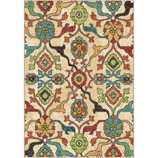 orian rugs punjab multi fl bright colors 8 ft x 11 ft indoor area rug 354744 the home depot