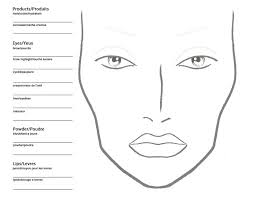 Printable Face Templates Simple Jerome A Briese On Face Charts Pinterest Makeup Makeup Face