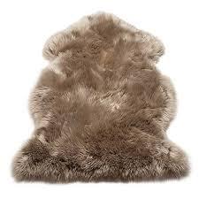 sheepskin rug taupe