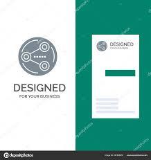 Share Sharing Social Media Grey Logo Design And Business