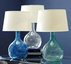 small glass table lamp colored glass table lamp pottery barn regarding turquoise lamps decorations 9 mini glass table lamps