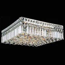 brizzo lighting s 16 bossolo transitional crystal square pertaining to impressive flush mount crystal chandelier