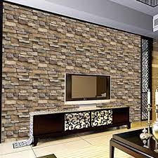 45x100cm 3D Brick Stone Wall Sticker ...