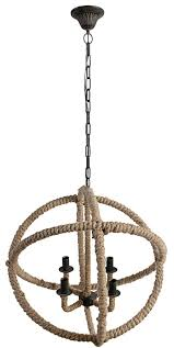 country steel orb chandelier