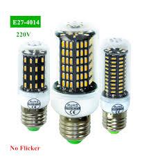 Flux Led Lights Us 1 59 39 Off E27 Led Lamp Bulb Ac 220v High Luminous Flux 4014 Smd Corn Bombillas Led Light Warm White Cold White Indoor Lighting Lampe In Led