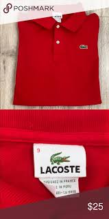 Lacoste Red Polo Short Sleeved Red Lacoste Polo Great