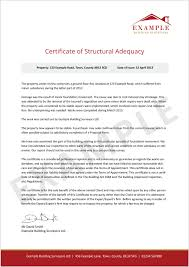 What Is A Certificate Of Structural Adequacy? | Intelligent Insurance
