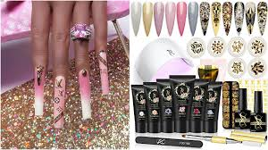 SXC Bridal POLYGEL Kit EXTRA LONG PINK Louis Vuitton Aesthetic Ombre DIY  Nails STEP BY STEP