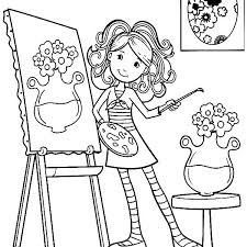 Paint Brush Coloring Page Paintbrush Coloring Page Best Coloring