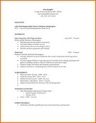 Objectives For Resumes High School Students Resume Objective