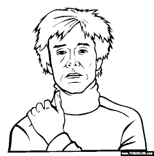 Small Picture Andy Warhol Coloring Page Free Andy Warhol Online Coloring