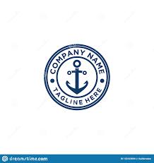 Maritime Logo Design Anchor Logo Design Vector Simple Style Stock Vector