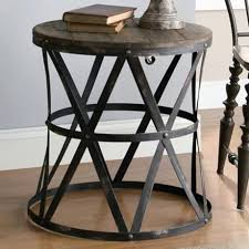 wood metal end table collection industrial side table industrial metal within round metal end tables ideas